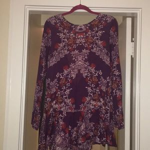Free People Drop Waist Backless Tunic